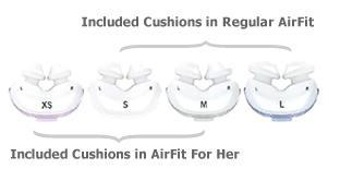 AirFit Cushion Sizes!