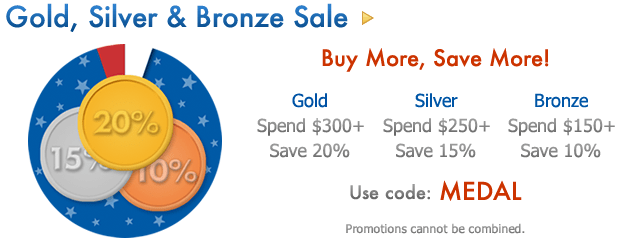 Gold, Silver & Bronze Buy More, Save More Sale